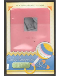 NIV Baby Keepsake Bible Pink Duo
